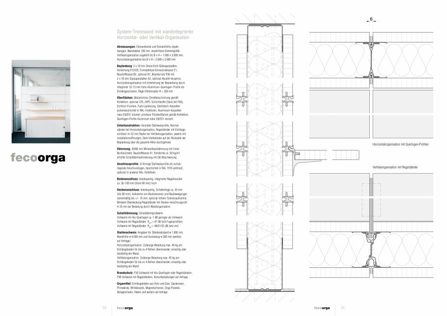 Pagina 1 - Detaliile tehnice - compartimentare birouri cu pereti si usi din sticla FECO FecoOrga...