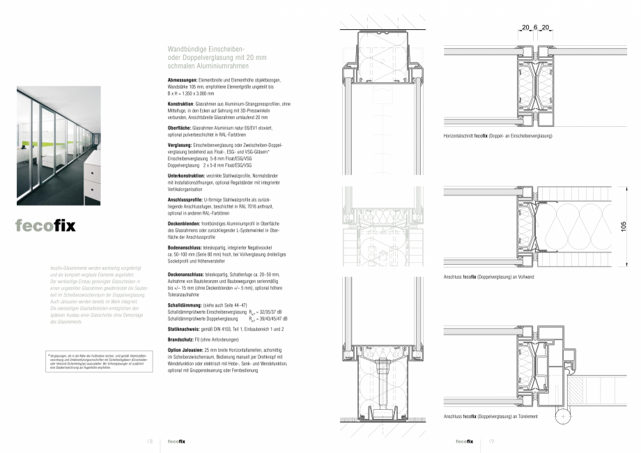 Pagina 1 - Detaliile tehnice - compartimentare birouri cu pereti si usi din sticla FECO FecoFix Fisa...