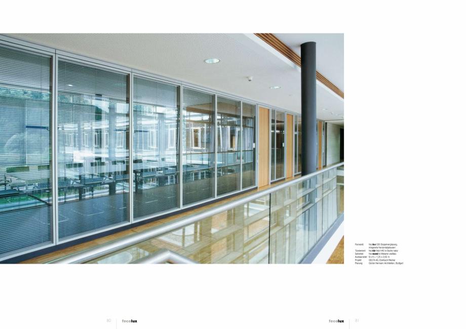 Pagina 2 - Prezentarea compartimentarii biroului cu pereti si usi din sticla FECO FecoLux Catalog,...
