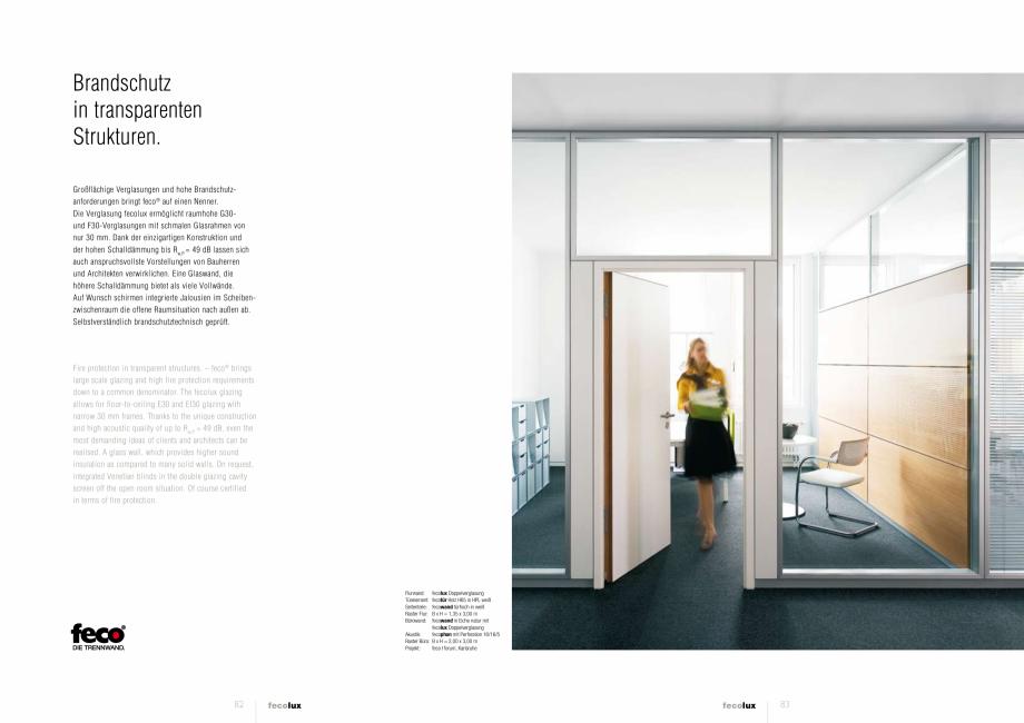 Pagina 3 - Prezentarea compartimentarii biroului cu pereti si usi din sticla FECO FecoLux Catalog,...
