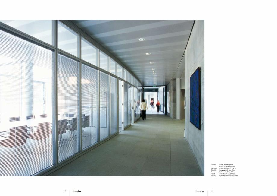 Pagina 4 - Prezentarea compartimentarii biroului cu pereti si usi din sticla FECO FecoLux Catalog,...