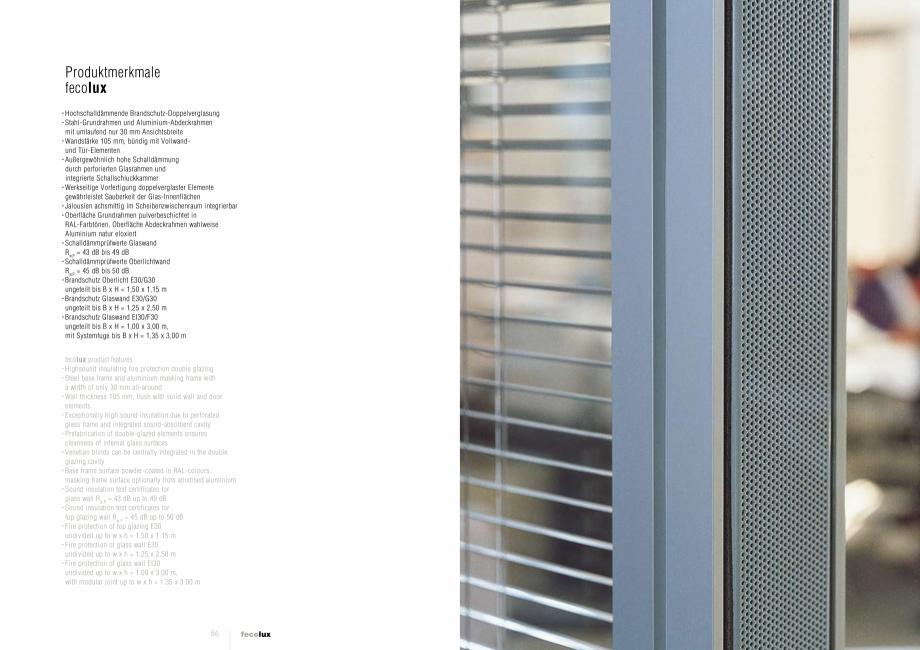 Pagina 5 - Prezentarea compartimentarii biroului cu pereti si usi din sticla FECO FecoLux Catalog,...