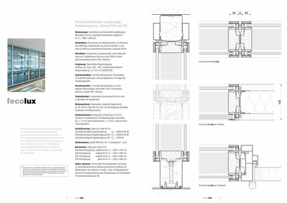 Pagina 1 - Detaliile tehnice - compartimentare birouri cu pereti si usi din sticla FECO FecoLux Fisa...