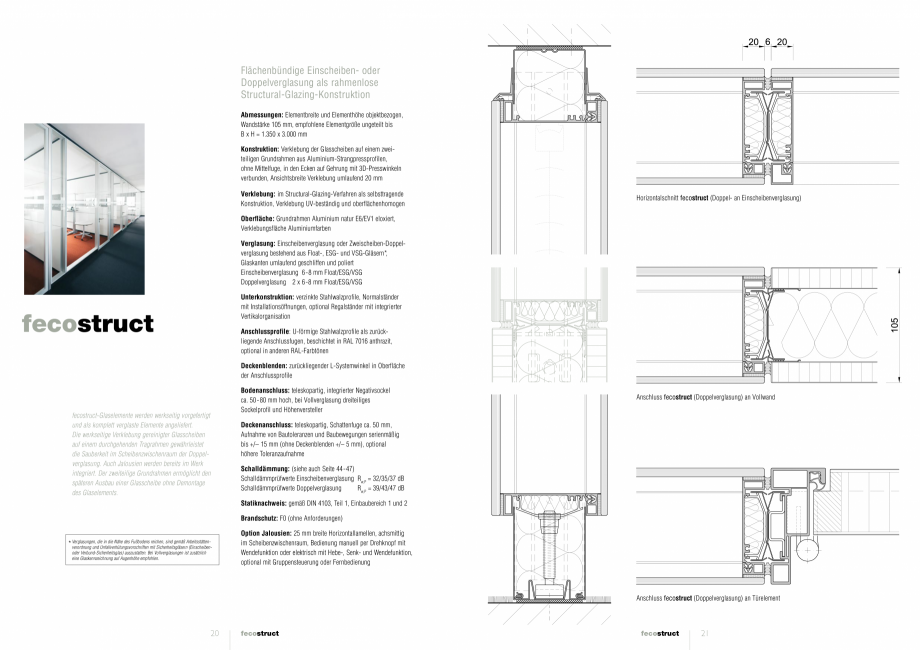 Pagina 1 - Detaliile tehnice - compartimentare birouri cu pereti si usi din sticla FECO FecoStruct...