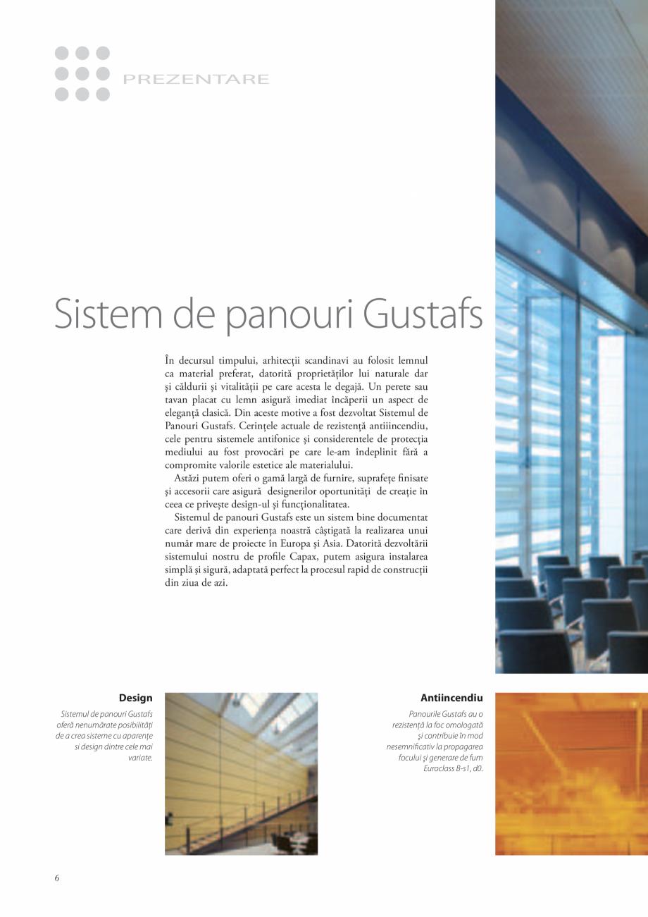 Pagina 5 - Catalog- Panouri fonoabsorbante GUSTAFS Gustafs Catalog, brosura Romana  la placa de...