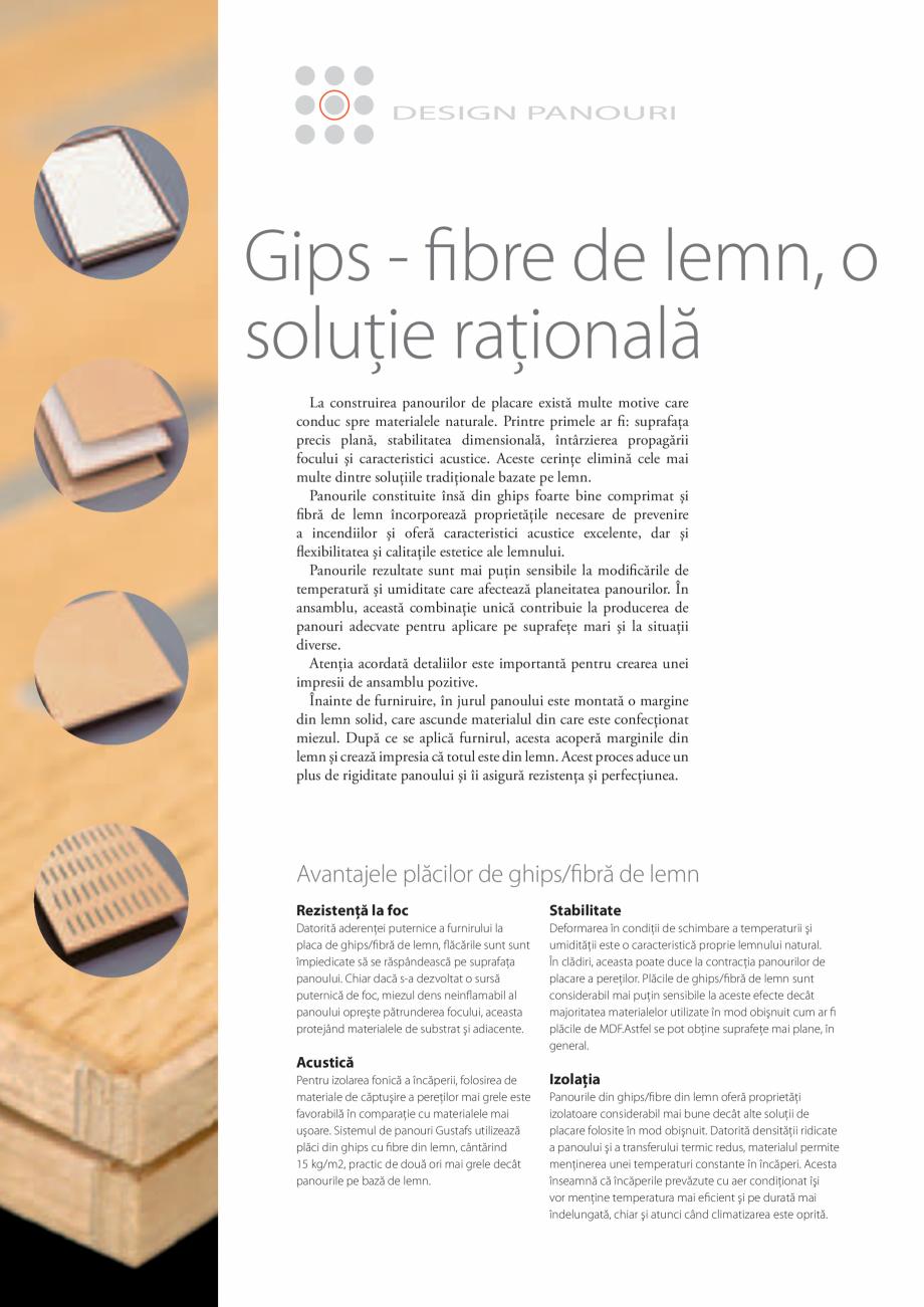 Pagina 7 - Catalog- Panouri fonoabsorbante GUSTAFS Gustafs Catalog, brosura Romana 0,08%  0,4%  0,24...