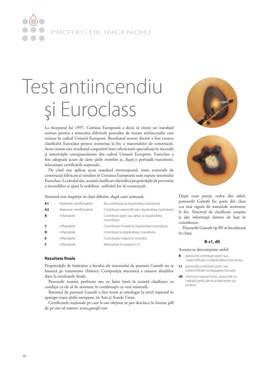 Pagina 9 - Catalog- Panouri fonoabsorbante GUSTAFS Gustafs Catalog, brosura Romana încadrează în ...