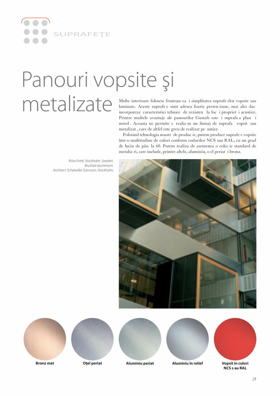 Pagina 25 - Catalog- Panouri fonoabsorbante GUSTAFS Gustafs Catalog, brosura Romana �le Capax...