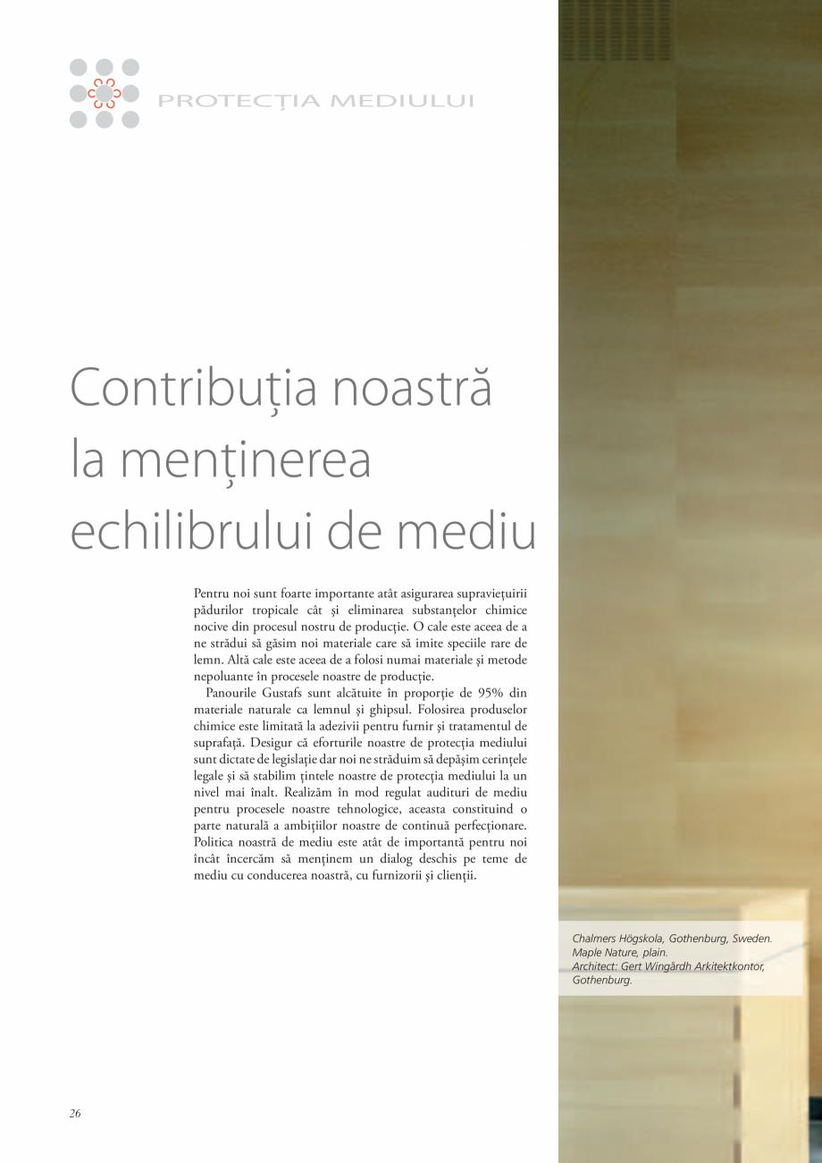 Pagina 26 - Catalog- Panouri fonoabsorbante GUSTAFS Gustafs Catalog, brosura Romana ivă pentru...