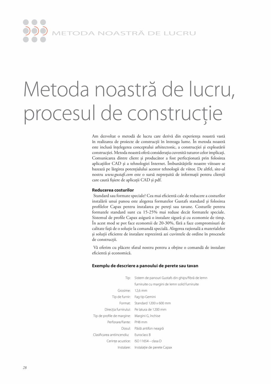 Pagina 28 - Catalog- Panouri fonoabsorbante GUSTAFS Gustafs Catalog, brosura Romana ubarea...