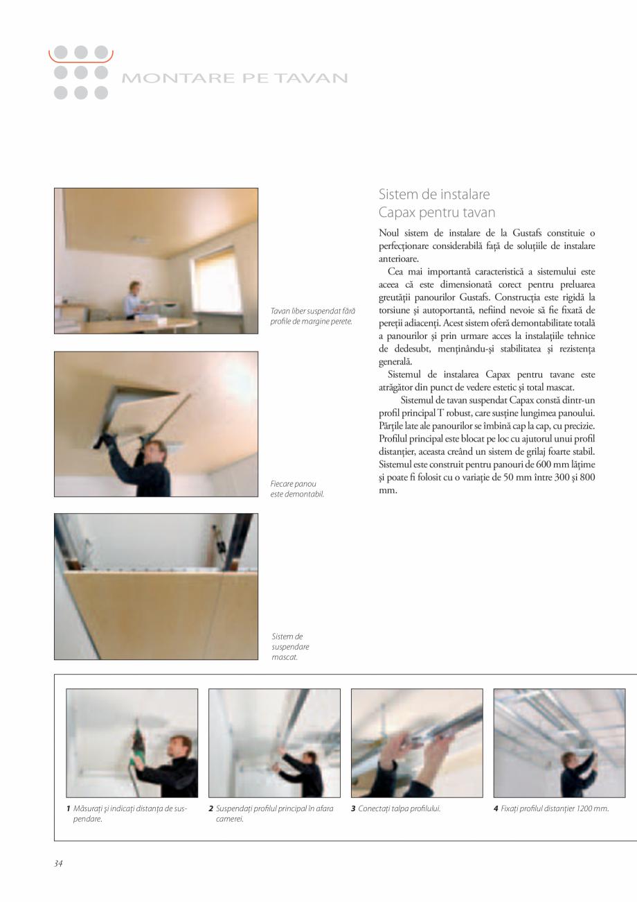 Pagina 34 - Catalog- Panouri fonoabsorbante GUSTAFS Gustafs Catalog, brosura Romana al nu este...