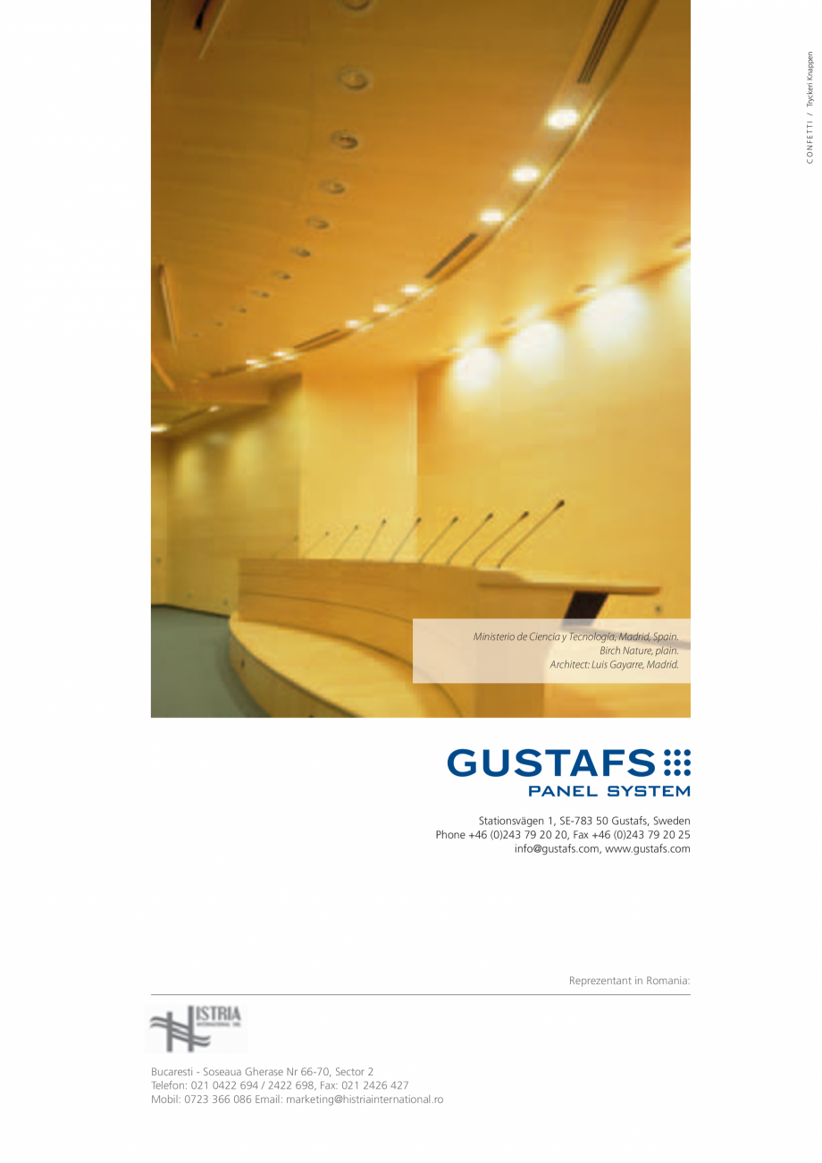 Pagina 40 - Catalog- Panouri fonoabsorbante GUSTAFS Gustafs Catalog, brosura Romana