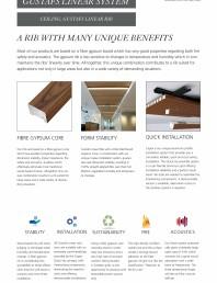 Panouri fonoabsorbante pentru plafoane - sistem linear - instructiuni de montaj