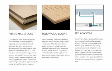 Panouri fonoabsorbante pentru plafoane - perforatii acustice - instructiuni de montaj- GUSTAFS