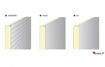 Panouri termoizolante de perete cu imbinare vizibila sau ascunsa ISOPER - Panouri termoizolante de perete se utilizeaza la realizarea inchiderilor exterioare pentru o gama variata de lucrari: hale industriale; centre comerciale; depozite; organizari de santier etc.