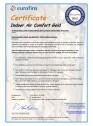 Certificare Eurofins - pentru vata minerala de sticla cu tehnologia ECOSE®