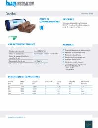 Vata minerala de sticla cu tehnologia ECOSE®, pentru pereti de compartimentare