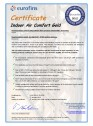 Certificare Eurofins pentru vata minerala de sticla cu tehnologie ECOSE®
