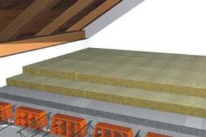 Vata minerala bazaltica pentru pardoseli Izolarea pardoselilor cu vata bazaltica Knauf Insulation reduce transferul de zgomote pe calea aerului prin structura pardoselii si asigura si izolarea termica.