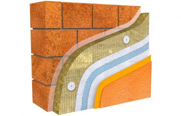 Vata minerala bazaltica pentru fatade tencuite, cu conductivitate termica imbunatatita Vata bazaltica pentru fatade, Knauf Insulation, ofera cea mai buna protectie anti-incendiu, izolare acustica eficienta si permeabiltate la vapori de apa.
