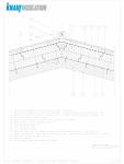 Detalii CAD acoperisuri inclinate izolatie intre si peste capriori KNAUF INSULATION - UNIFIT 035, UNIFIT 032