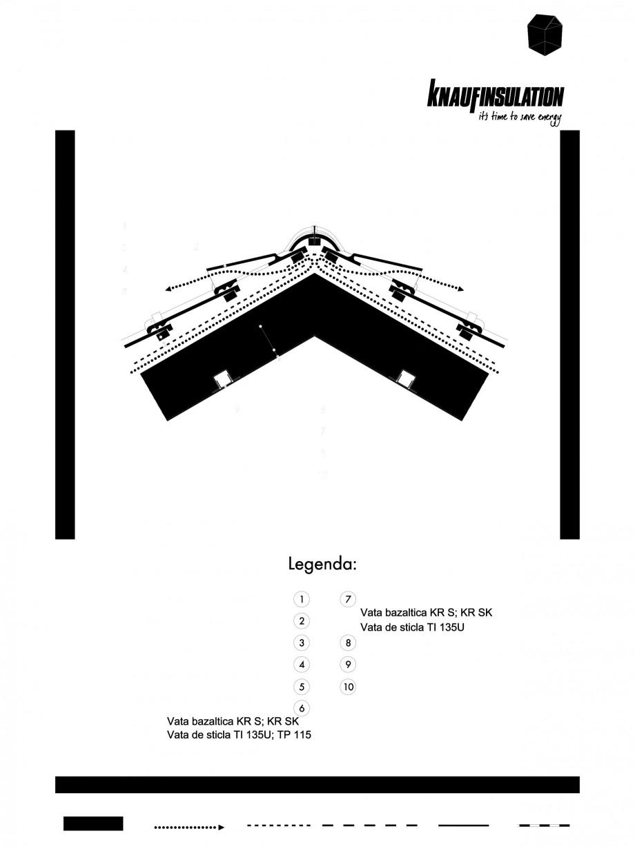 Pagina 1 - CAD-PDF Detaliu de coama termoizolare acoperis fara astereala cu spatiu de ventilare...