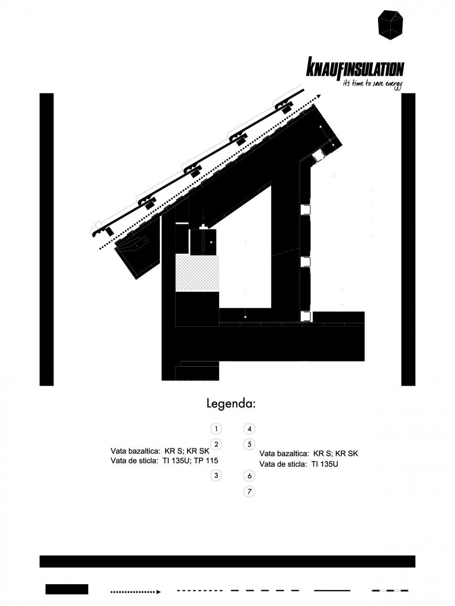 Pagina 1 - CAD-PDF Detaliu de mansarda racord intre termoizolatia acoperisului cu astereala cu...