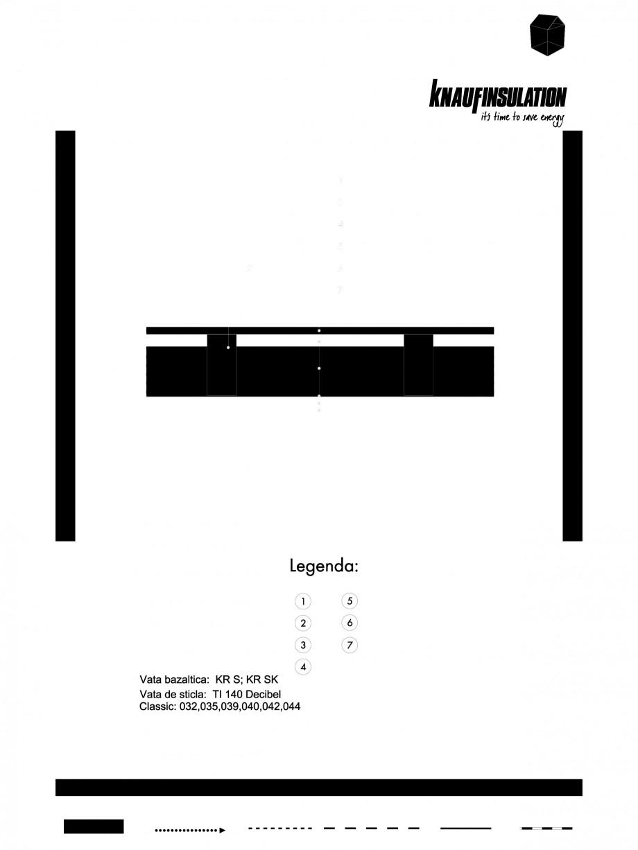 Pagina 1 - CAD-PDF Detaliu de planseu termoizolare unui planseu pe structura de lemn la un pod...