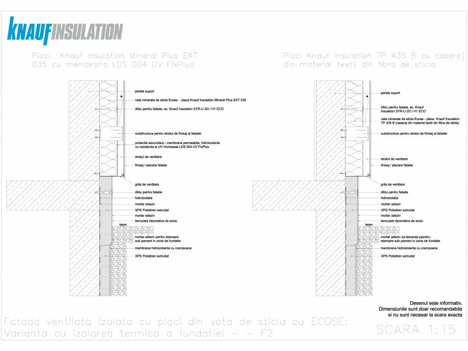 Pagina 1 - CAD-DWG Fatada ventilata izolata cu placi din vata de sticla cu ECOSE KNAUF INSULATION...