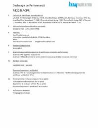 Declaratie de performanta pentru vata minerala bazaltica