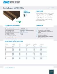 Placi din vata minerala bazaltica, cu ECOSE®, pentru fatade ventilate