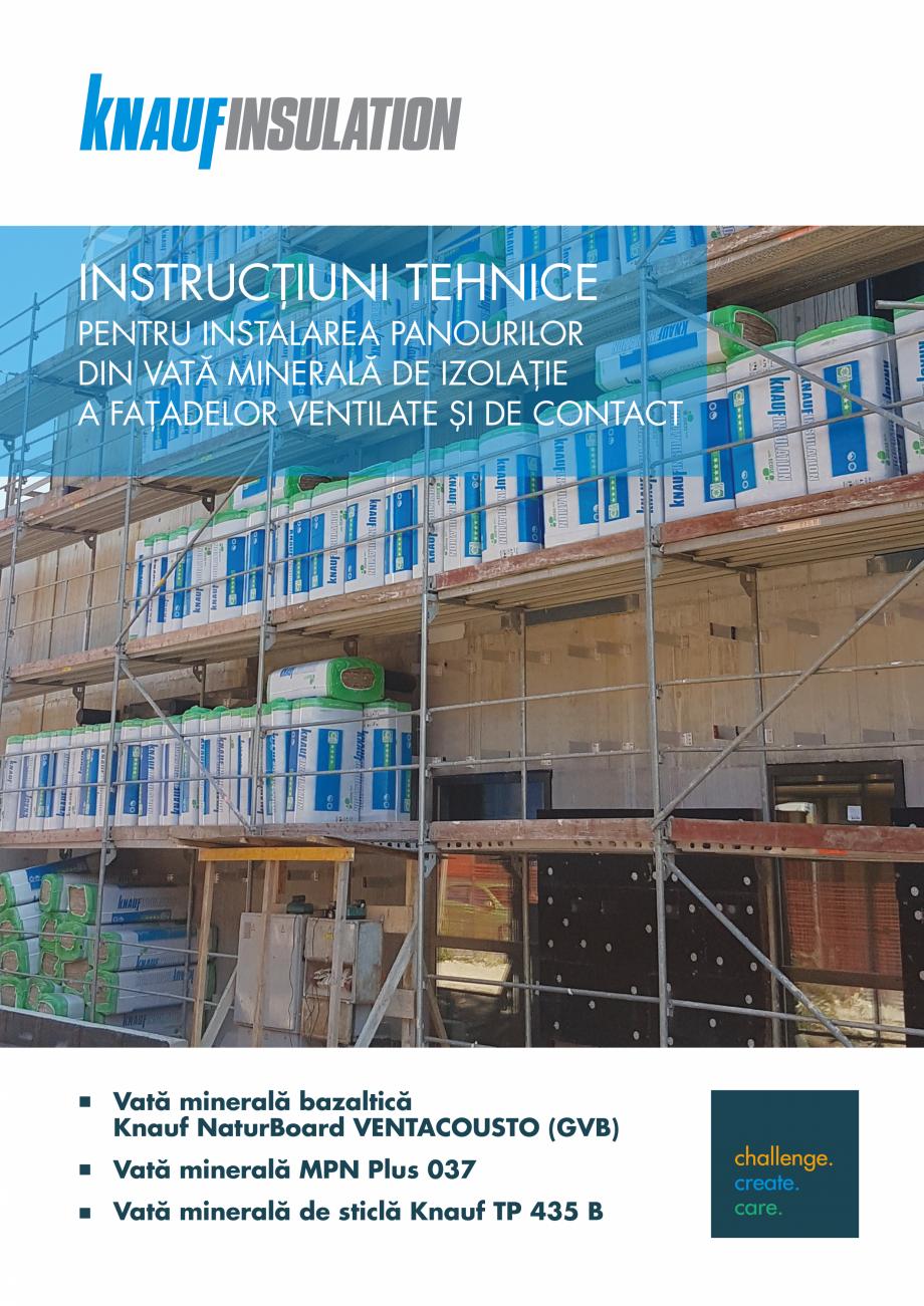 Pagina 1 - Instructiuni aplicare fatade ventilate KNAUF INSULATION NaturBoard VENTACUSTO...