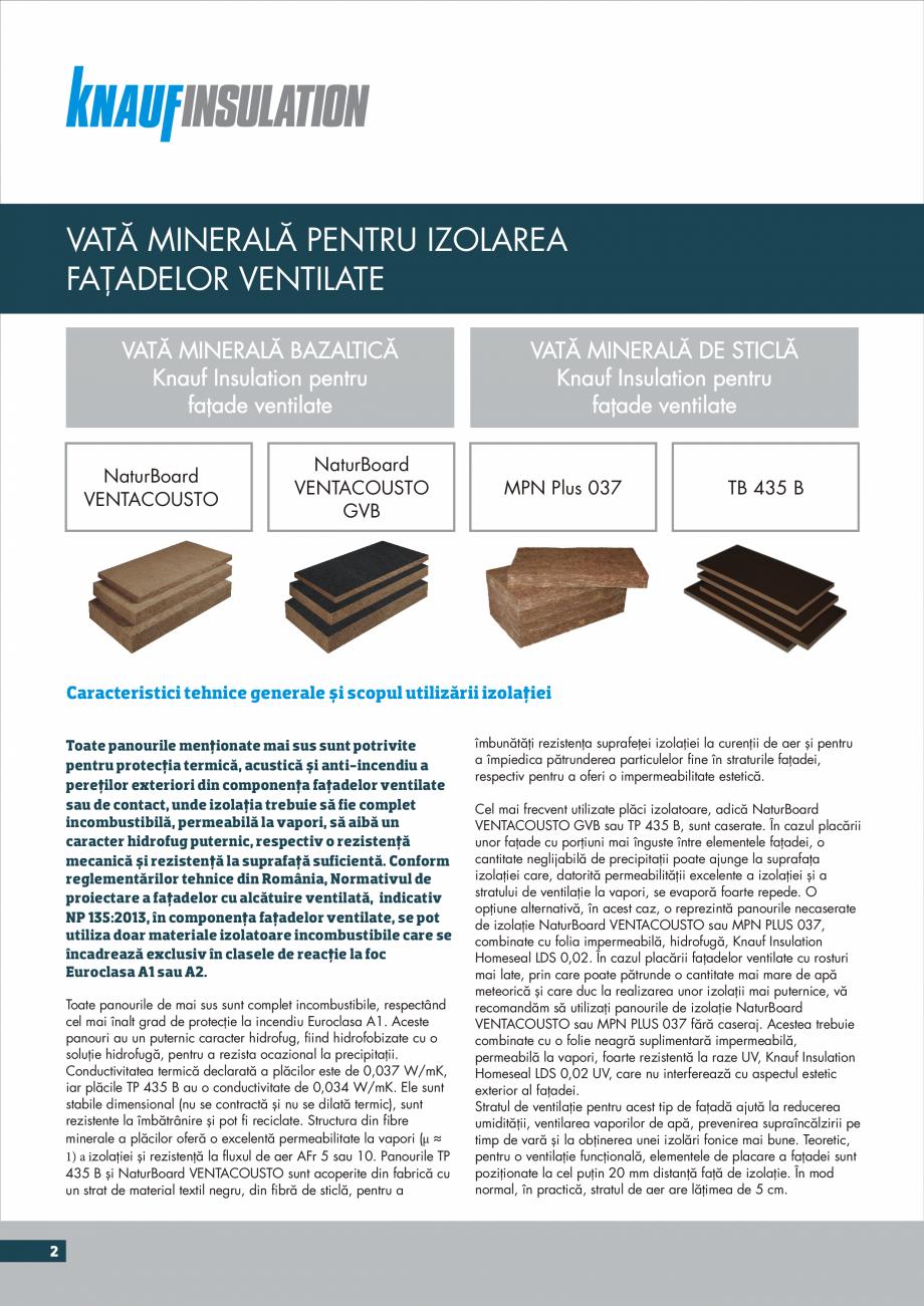 Pagina 2 - Instructiuni aplicare fatade ventilate KNAUF INSULATION NaturBoard VENTACUSTO...