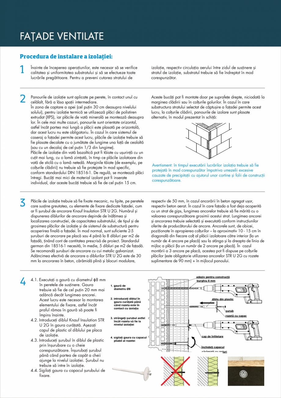 Pagina 3 - Instructiuni aplicare fatade ventilate KNAUF INSULATION NaturBoard VENTACUSTO...