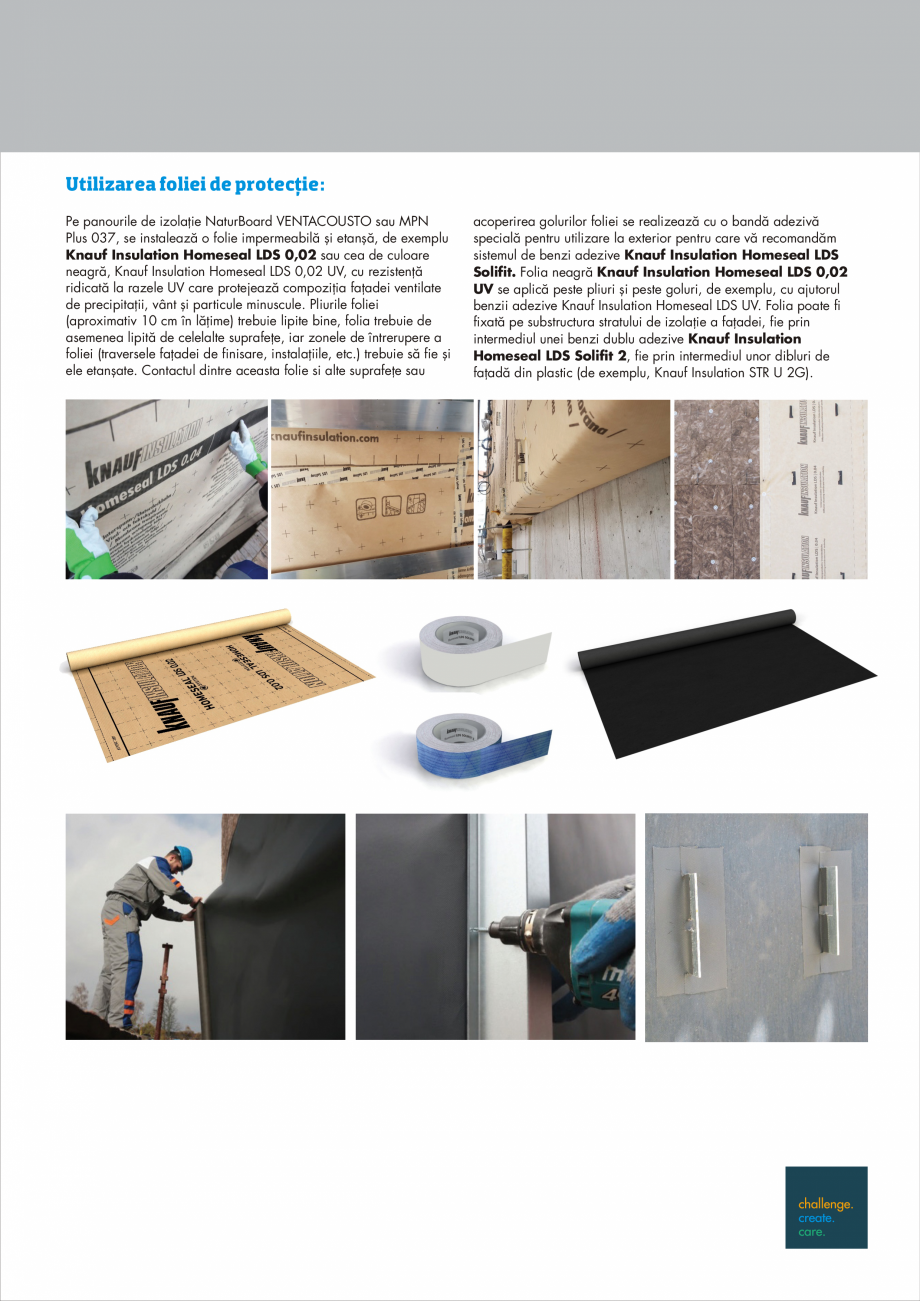 Pagina 5 - Instructiuni aplicare fatade ventilate KNAUF INSULATION NaturBoard VENTACUSTO...