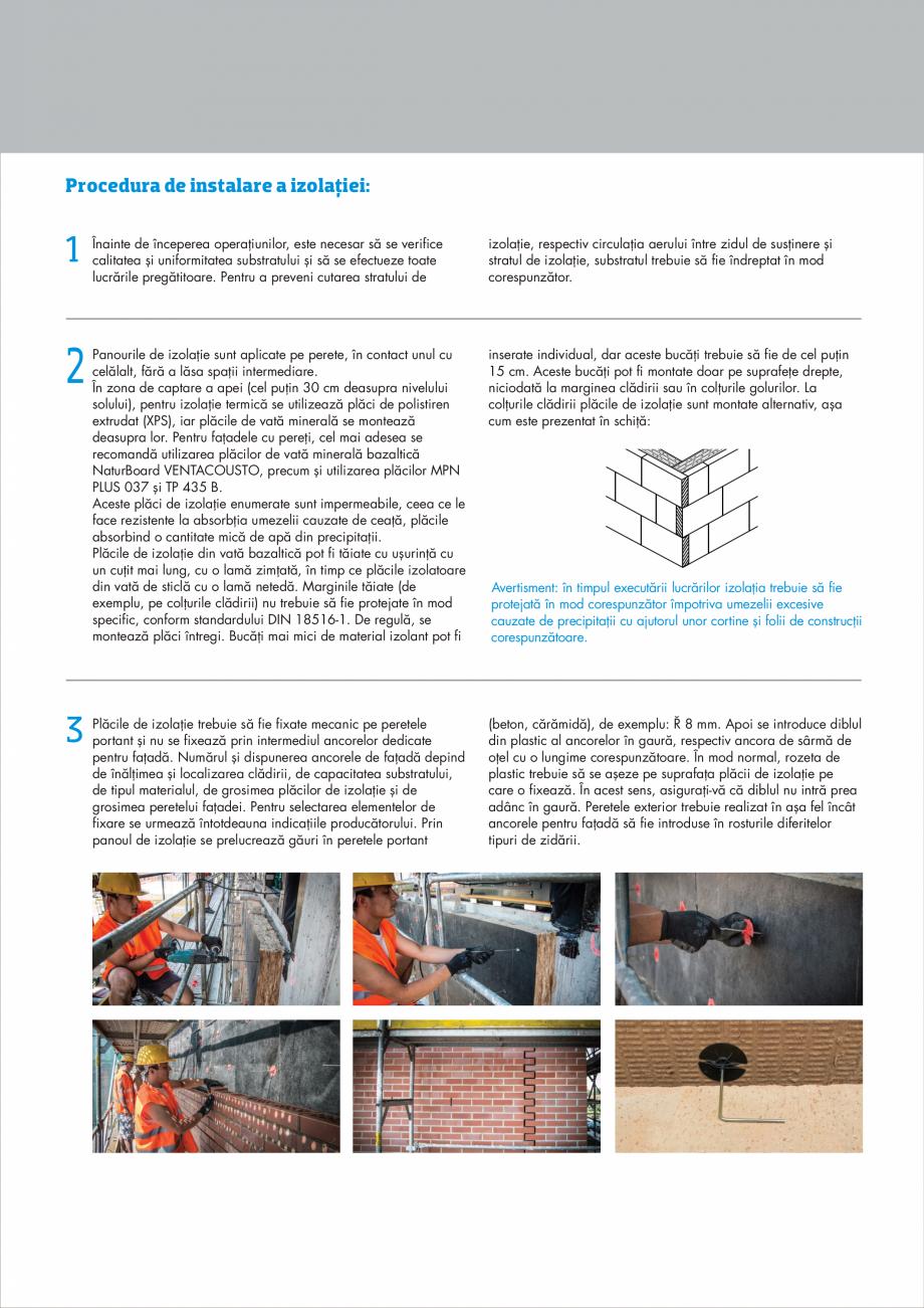 Pagina 7 - Instructiuni aplicare fatade ventilate KNAUF INSULATION NaturBoard VENTACUSTO...