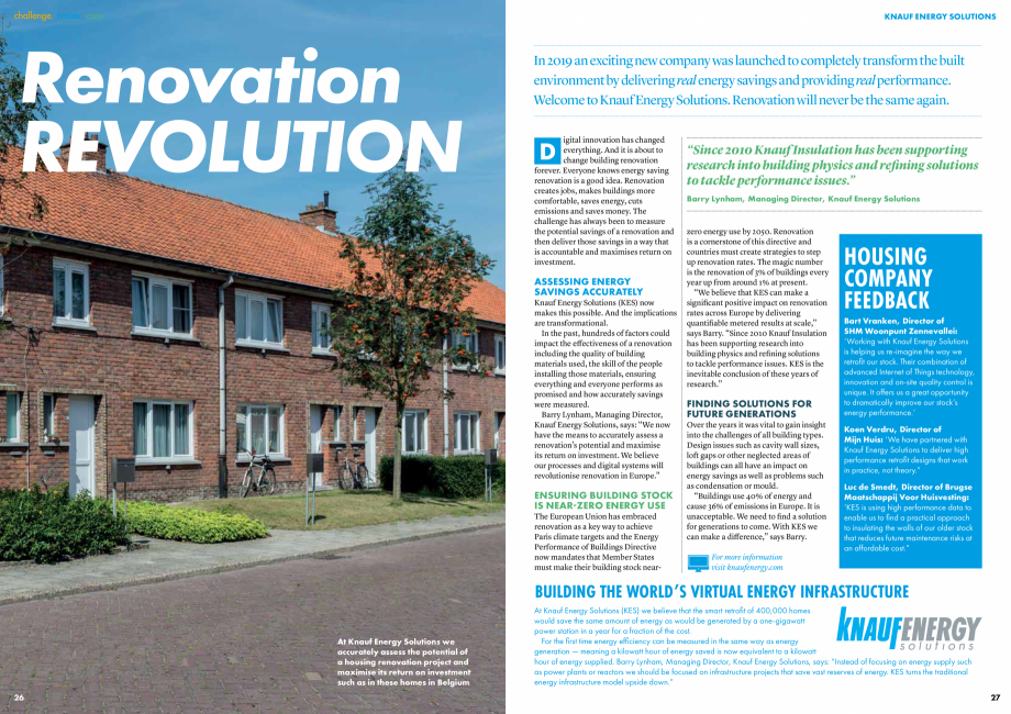 Pagina 14 - Raport de sustenabilitate 2019 KNAUF INSULATION Catalog, brosura Engleza  story of hope ...
