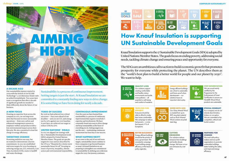 Pagina 24 - Raport de sustenabilitate 2019 KNAUF INSULATION Catalog, brosura Engleza  campaigning to...