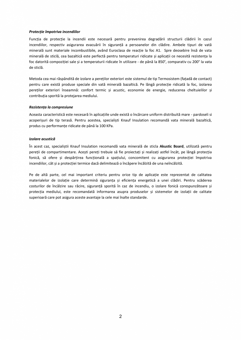 Pagina 2 - Knauf Insulation l Recomandari vata minerala KNAUF INSULATION Catalog, brosura Romana a...