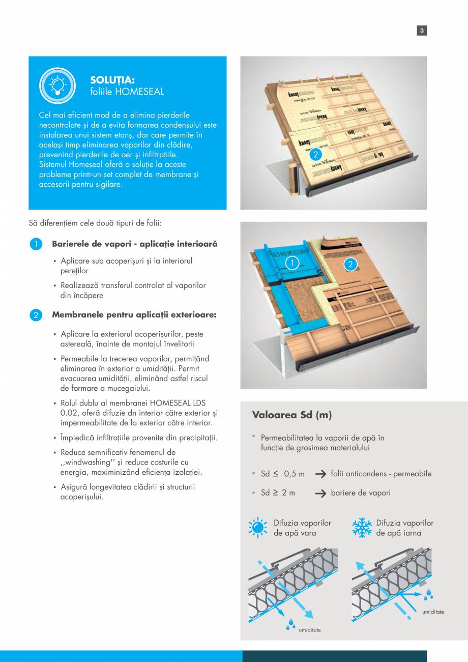 Pagina 3 - Sistemul Complet pentru Izolarea Acoperisului KNAUF INSULATION Catalog, brosura Romana...