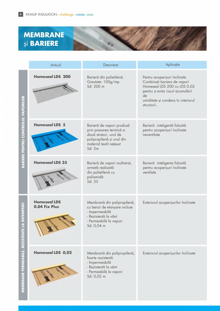Pagina 4 - Sistemul Complet pentru Izolarea Acoperisului KNAUF INSULATION Catalog, brosura Romana...