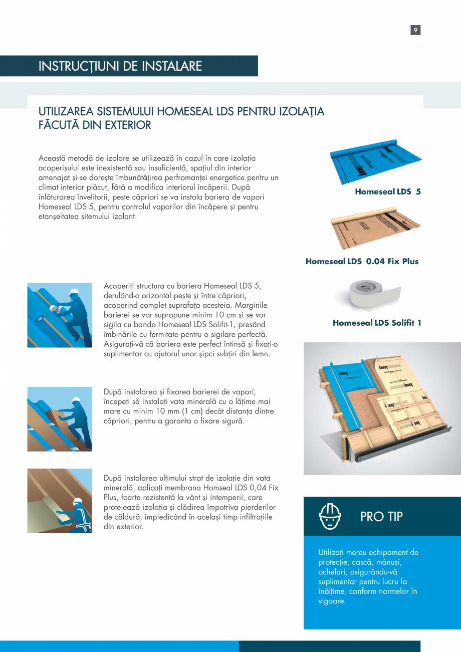 Pagina 9 - Sistemul Complet pentru Izolarea Acoperisului KNAUF INSULATION Catalog, brosura Romana...