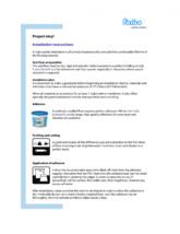 Instructiuni de instalare pentru pardoseli PVC eterogene FORBO