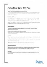 Sfaturi pentru curatarea si intretinerea pardoseli PVC pentru camere curate FORBO