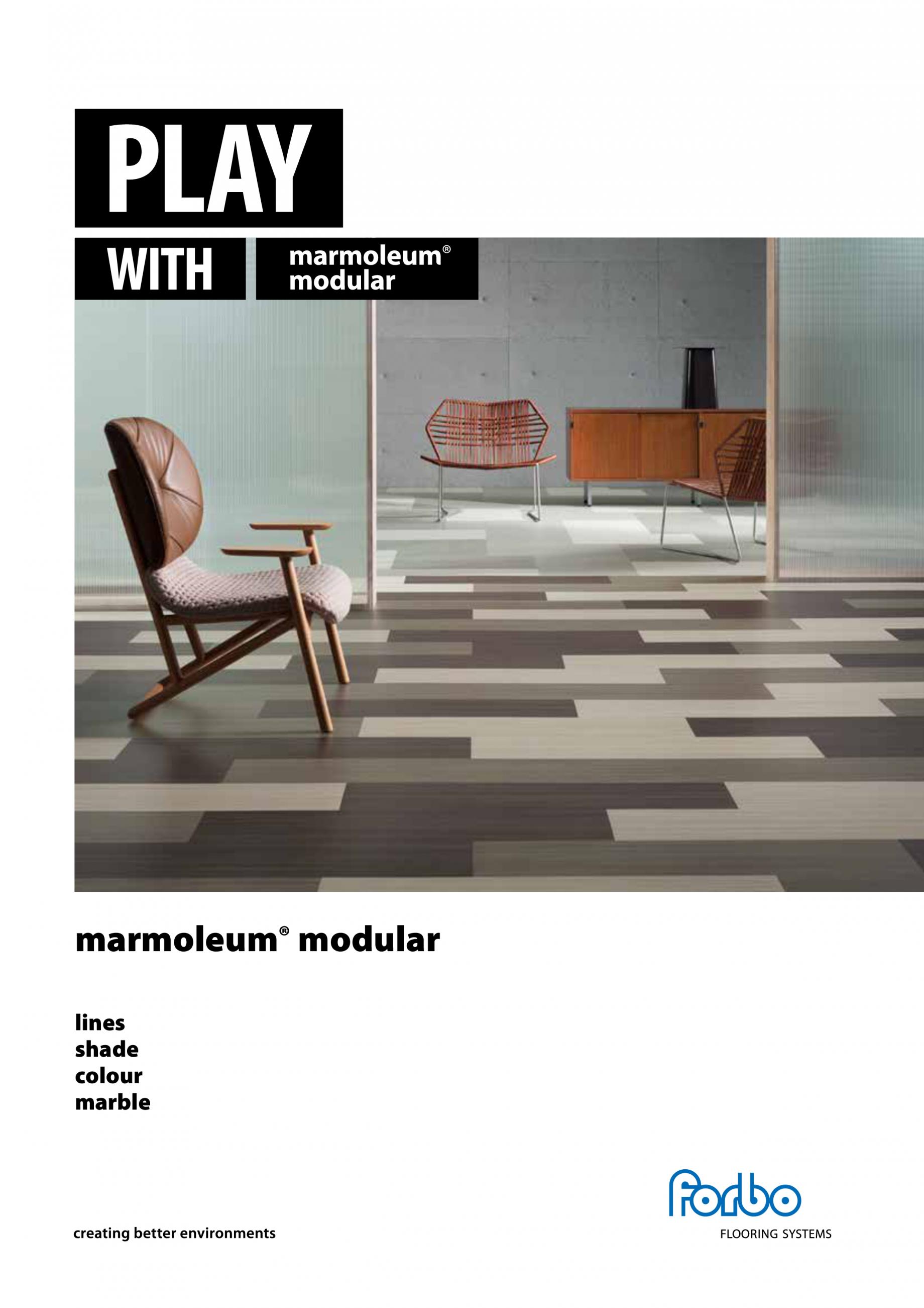 Catalog brosura linoleum marmoleum modular tiles colour marmoleum modular tiles lines - Forbo mobellinoleum ...