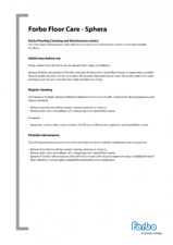 Ghid de curatare si intretinere pentru pardoseli PVC omogene FORBO