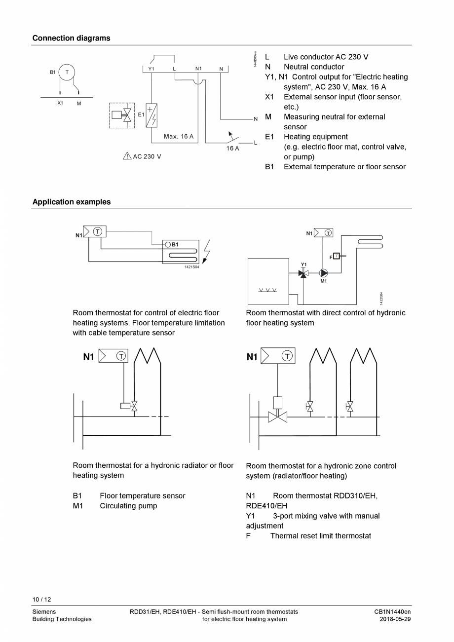 Pagina 10 - Termostat pentru incalzire electrica in pardoseala  SIEMENS RDD310/EH Fisa tehnica...