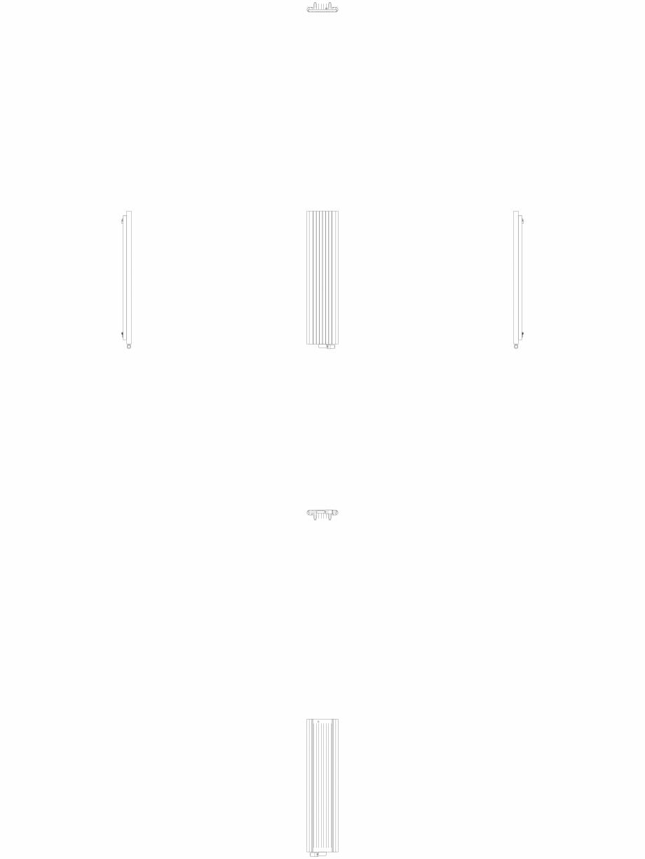 Pagina 1 - CAD-DWG Calorifer decorativ ALU-ZEN 1600x375 - 2D VASCO Detaliu de produs