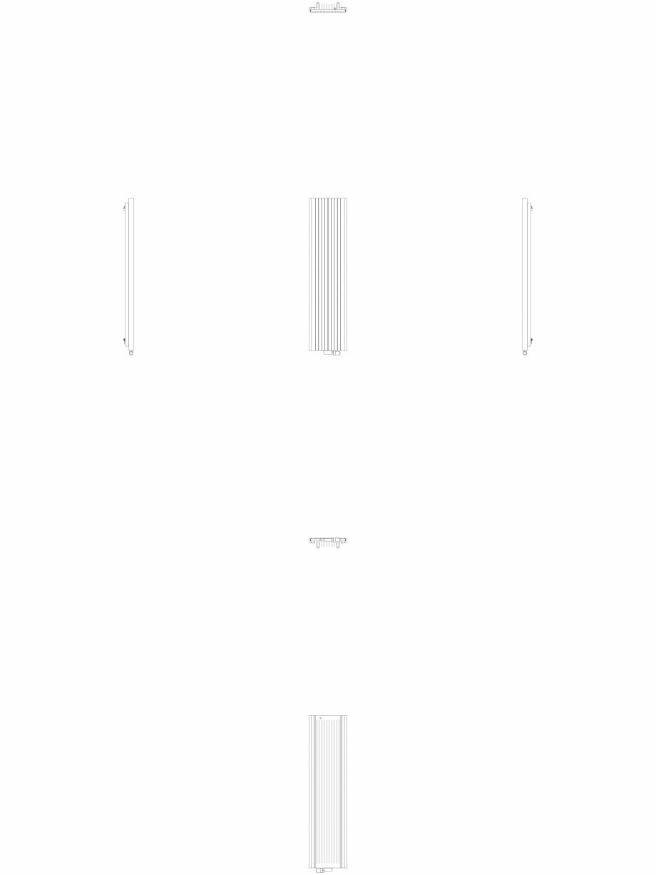 Pagina 1 - CAD-DWG Calorifer decorativ ALU-ZEN 1800x450 - 2D VASCO Detaliu de produs