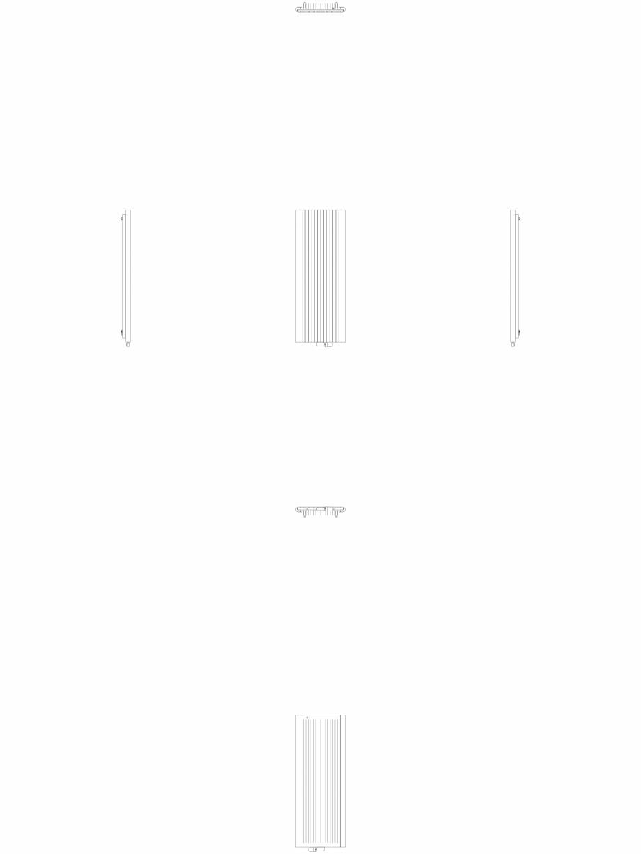 Pagina 1 - CAD-DWG Calorifer decorativ ALU-ZEN 1600x600 - 2D VASCO Detaliu de produs